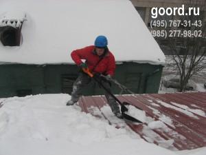 Очистка кровель от наледи и снега