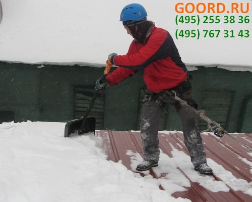 Очистка мягкой кровли от снега и наледи